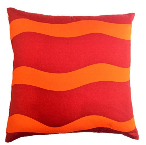 "NUNO WORKS Throw Pillow: ""Bow & Arrow"" (Orange/Red/Yellow)"