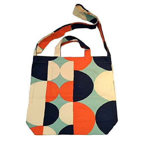 "NUNO WORKS Tote: ""Tulip"" (Orange/Navy)"