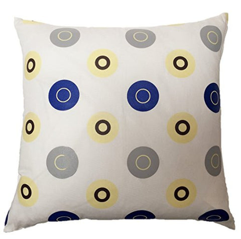 "NUNO WORKS Throw Pillow: ""Sticker Cloth"" (White/Blue/Gray)"