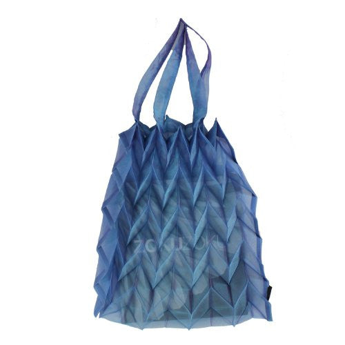 "NUNO Bag: ""Crystal Organdy Origami"" (Sky Blue)"