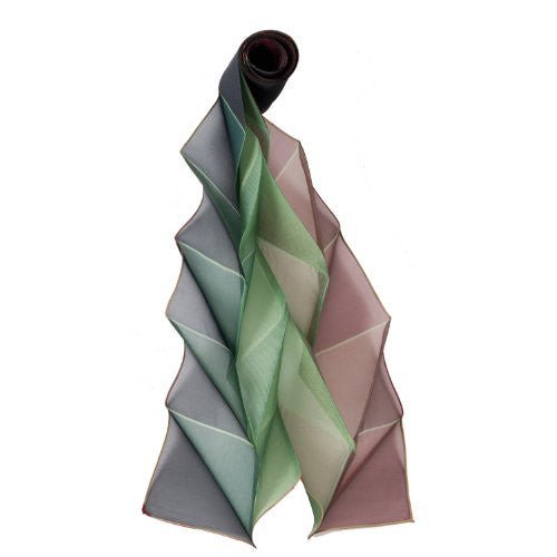 "NUNO Scarf: ""Origami Pleats"" (Green)"