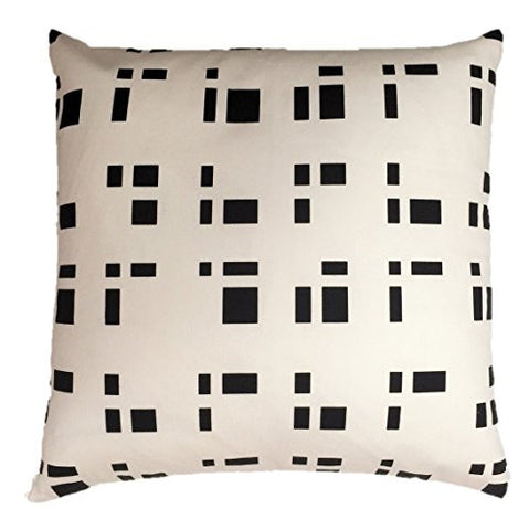 "NUNO WORKS Throw Pillow: ""Blocks"" (White/Black)"
