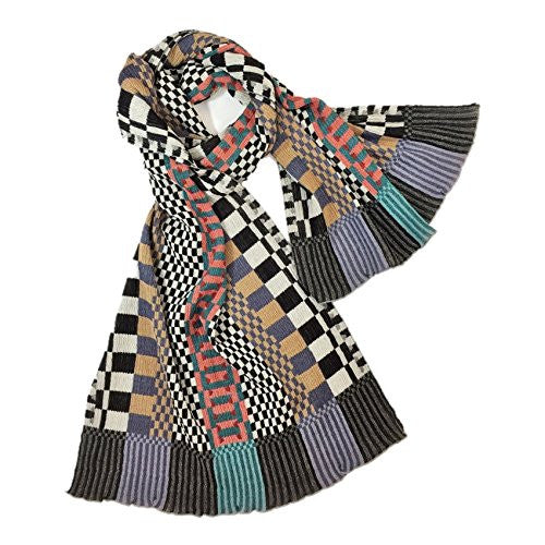 "NUNO Shawl: ""Checkered Check"" (Multicolored)"