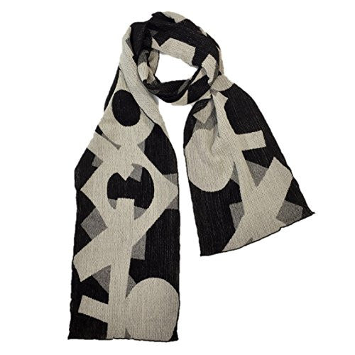"NUNO Narrow Shawl: ""Hob"" (White/Black)"