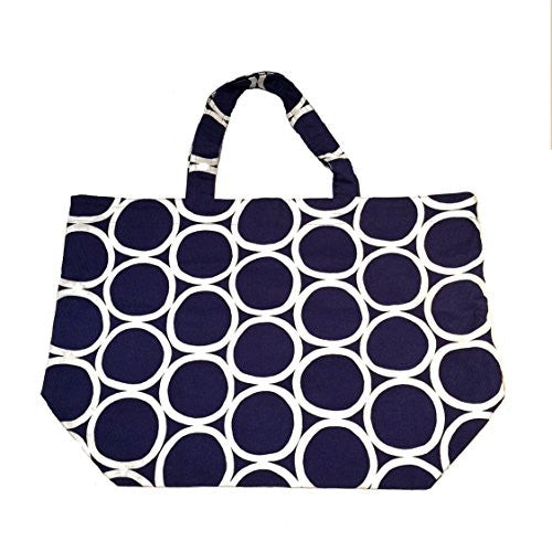 "NUNO Tote: ""White Rounds"" (Navy/White)"