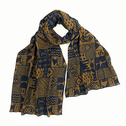 "NUNO Scarf: ""Camel"" (Navy/Brown)"