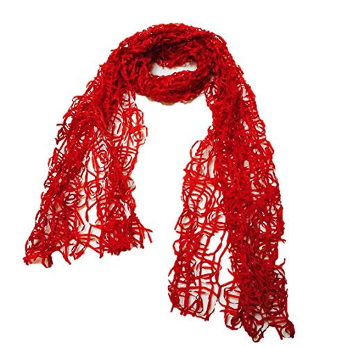 "NUNO Scarf: ""Paper Roll"" (Red)"