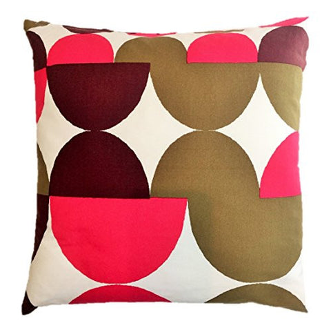 "NUNO WORKS Throw Pillow: ""Tulips"" (Pink/Brown)"
