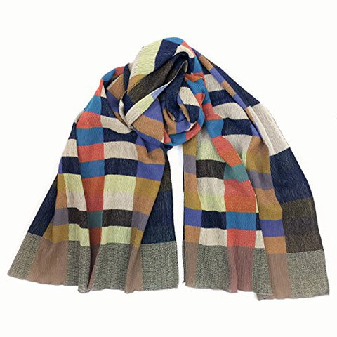 "NUNO Shawl: ""Geometric Blocks"" (Multicolored)"