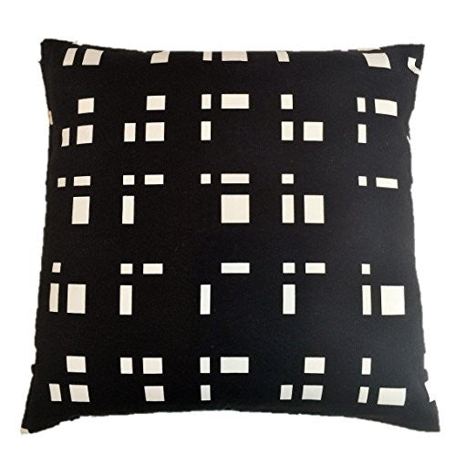 "NUNO WORKS Throw Pillow: ""Blocks"" (Black/White)"