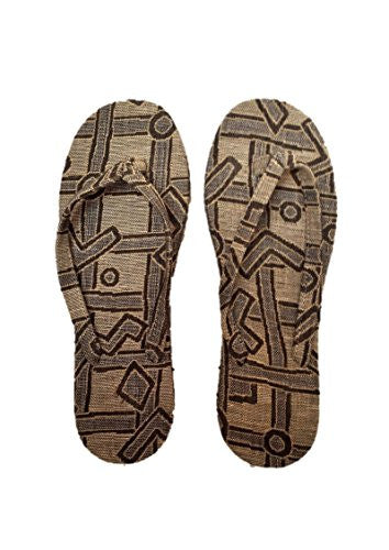 "NUNO Sandals: ""Basho"" (Beige/Black, Medium)"