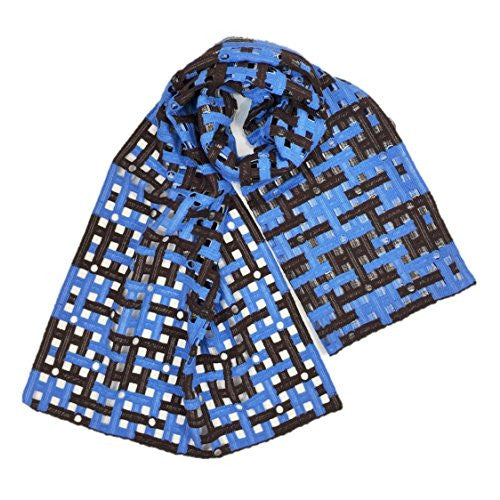 "NUNO Scarf: ""Froth"" (Blue/Brown)"