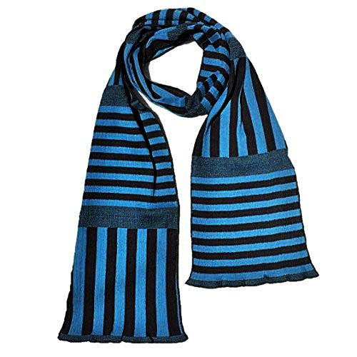 "NUNO Scarf: ""Stripy Stripe"" (Blue/Black, Narrow)"