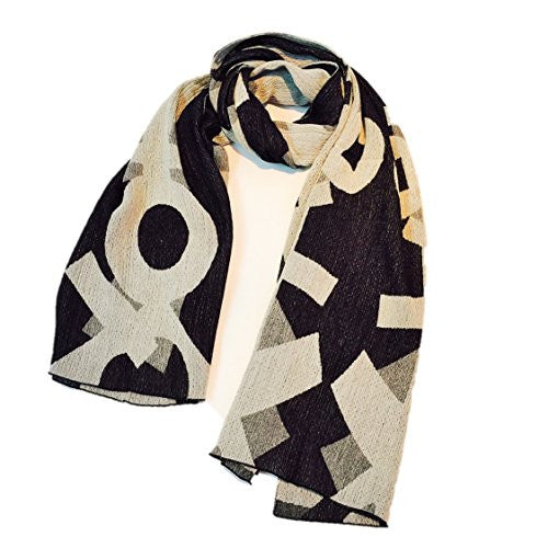 "NUNO Shawl: ""Hob"" (White/Black)"
