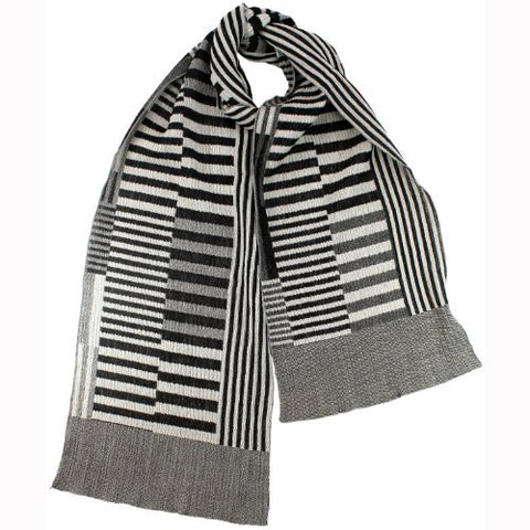 "NUNO Narrow Shawl: ""Color Plates"" (Black/White)"