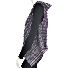 "NUNO One-Armhole Shawl: ""Shards"" (Purple Mix)"