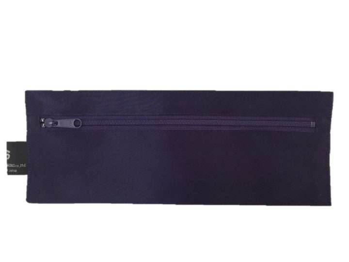 "NUNO Oblong Zippered Case: ""Coal"" (Amethyst)"