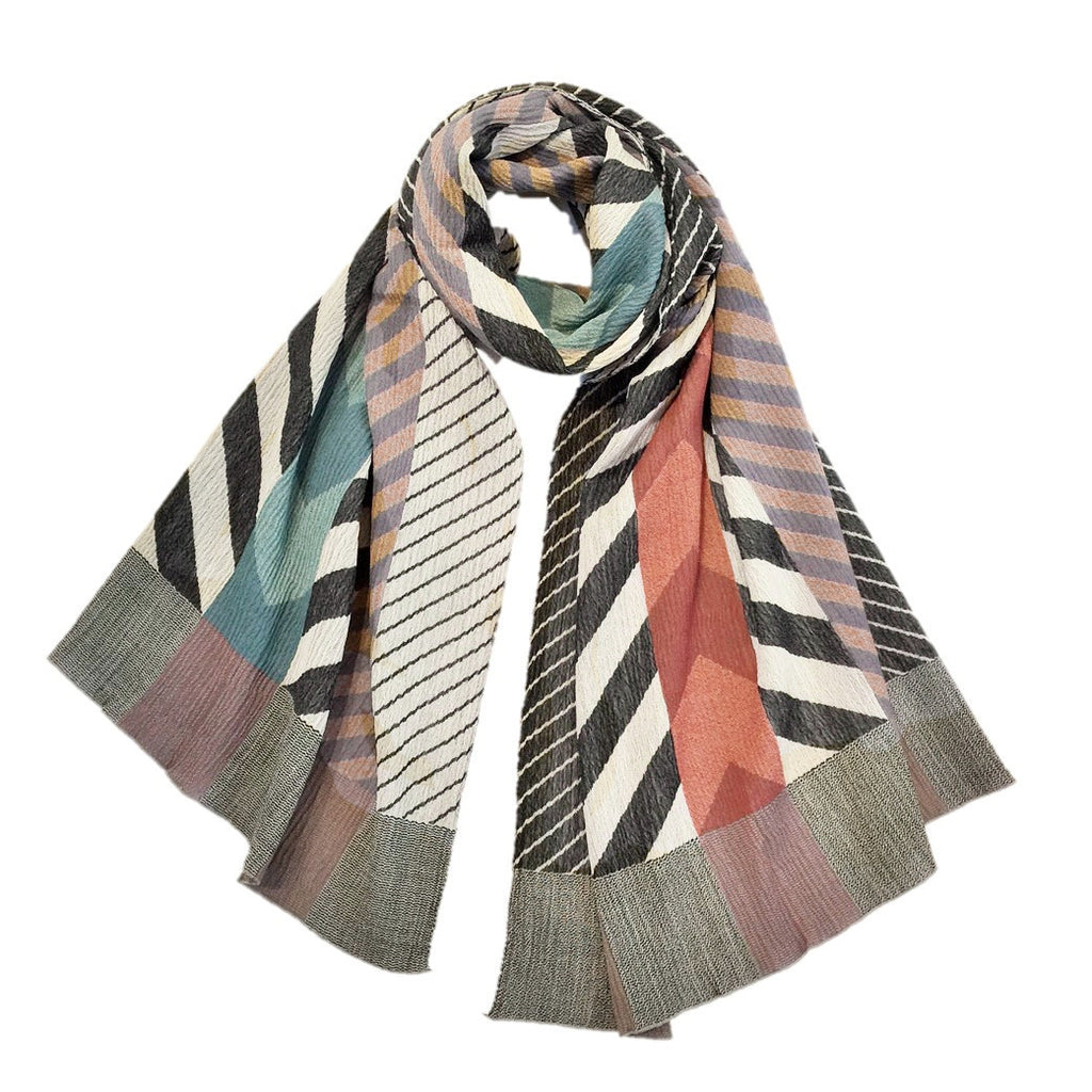 "NUNO Shawl: ""Arrow Feathers"" (Multicolored)"