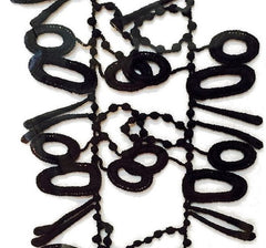 "NUNO Necklace: ""Pins and Needles"" (Black)"