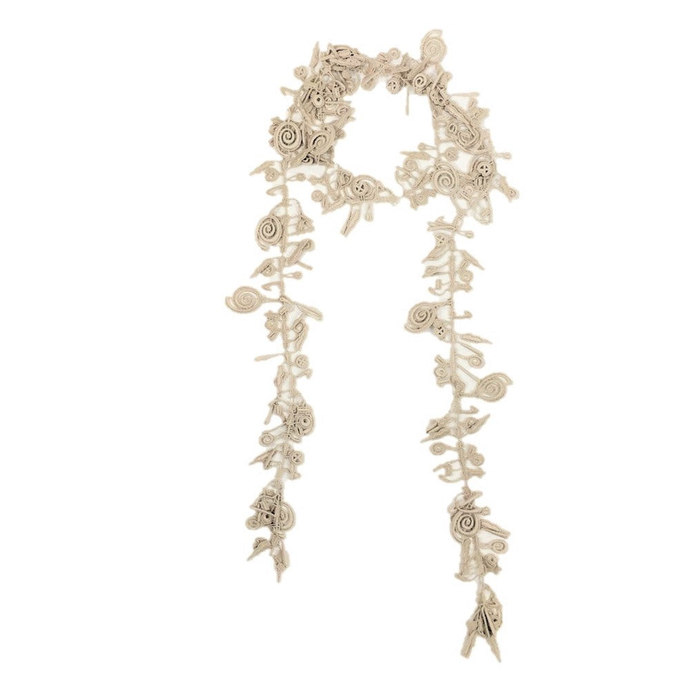 "NUNO Necklace: ""Watch Spring Lace"" (Cream)"