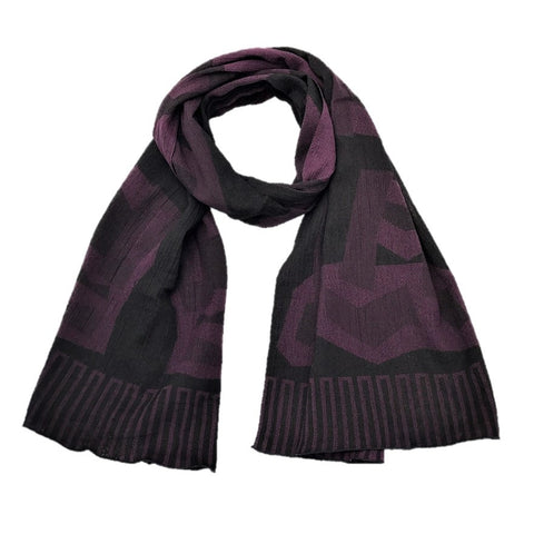"NUNO Scarf: ""Balance Beam"" (Purple/Black)"
