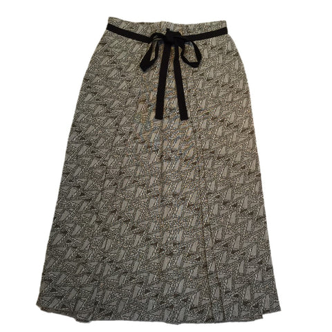 "NUNO Skirt: ""Basho Tower"" (Beige Mix)"