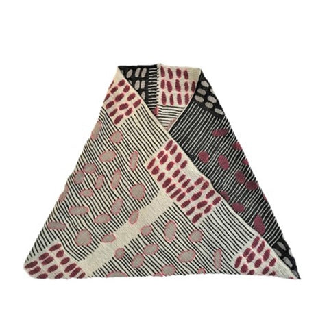 "NUNO Infinity Shawl/Shrug: ""Bean Scatter"" (Red/White/Black)"
