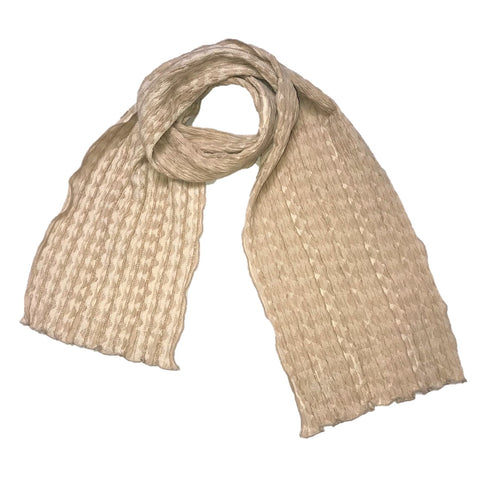 "NUNO Scarf: ""Trap Triangle"" (Butterscotch)"