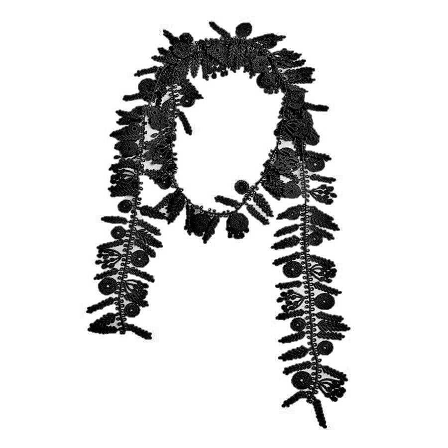 "NUNO Necklace: ""Date Palm"" Lace (Black)"