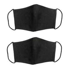 "NUNO Fitted Facemask 2-Piece Set: ""Omi"" (Black, Large)"
