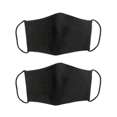 "NUNO Fitted Facemask 2-Piece Set: ""Omi"" (Black, Medium)"