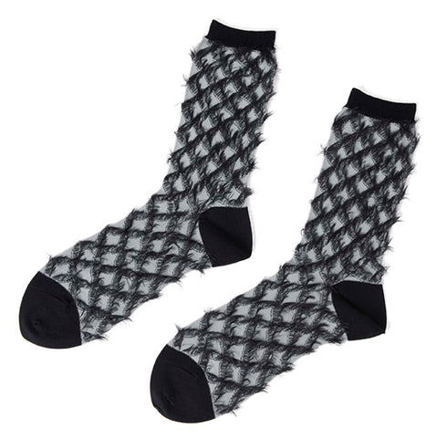 "ANTIPAST Socks: ""Water Chestnut"" (Gray/Black)"