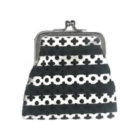 "NUNO Coin Purse: ""Silkscreened"" (Black/White)"