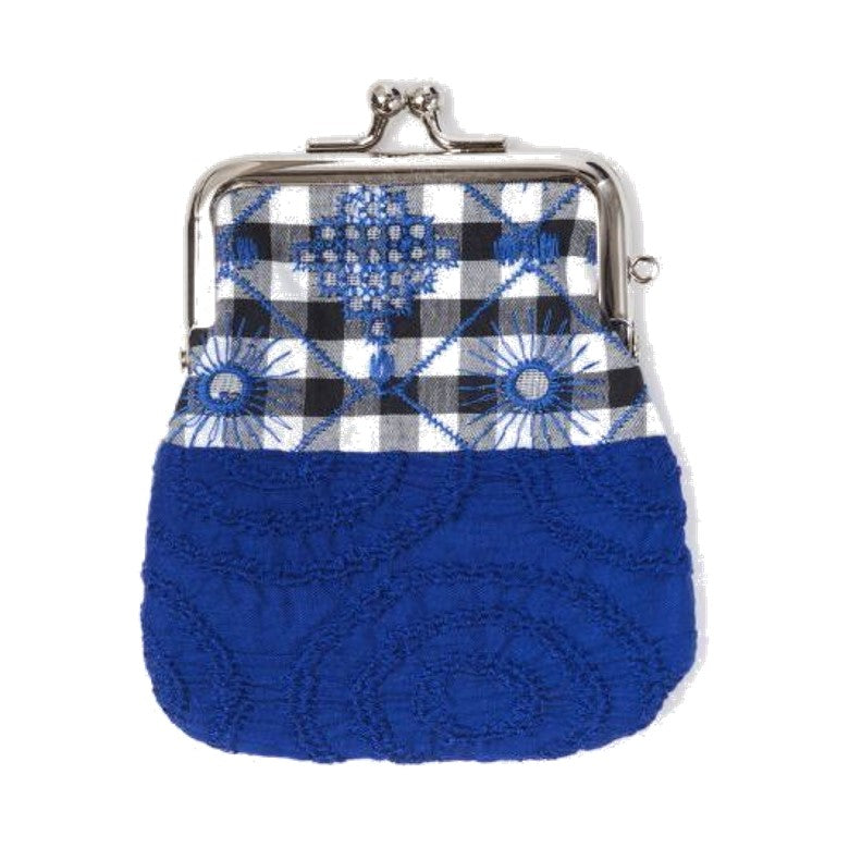 "NUNO Coin Purse: ""OriOri"" (Blue/Black/White)"