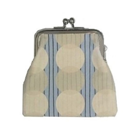 "NUNO Coin Purse: ""Silkscreened"" (Beige/Blue)"