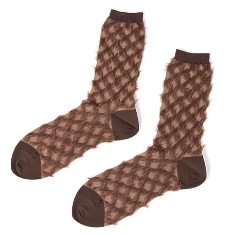 "ANTIPAST Socks: ""Water Chestnut"" (Brown)"