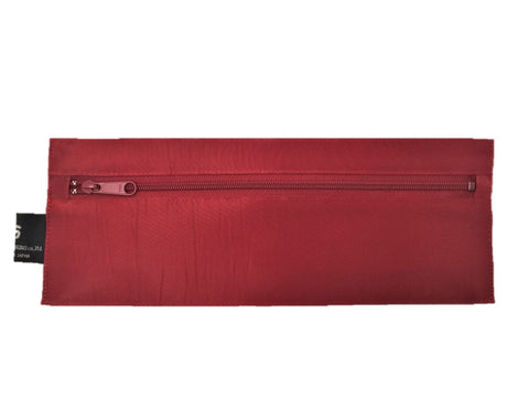 "NUNO Oblong Zippered Case: ""Coal"" (Carmine)"