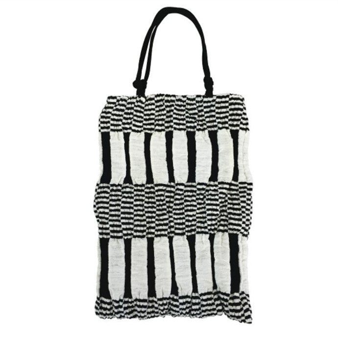 "Kibiso Bag: ""Chrisscross"" (Black/White)"