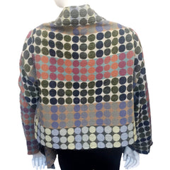 "NUNO Shawl Jacket: ""Circle Bricks"" (Green Mix)"