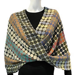 "NUNO Infinity Shawl/Shrug: ""Circle Bricks"" (Green Mix)"