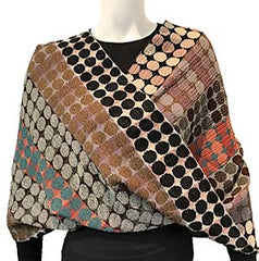 "NUNO Infinity Shawl/Shrug: ""Circle Bricks"" (Red Mix)"