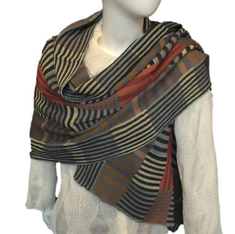"NUNO One-Armhole Shawl: ""Color Plates"" (Multicolored)"