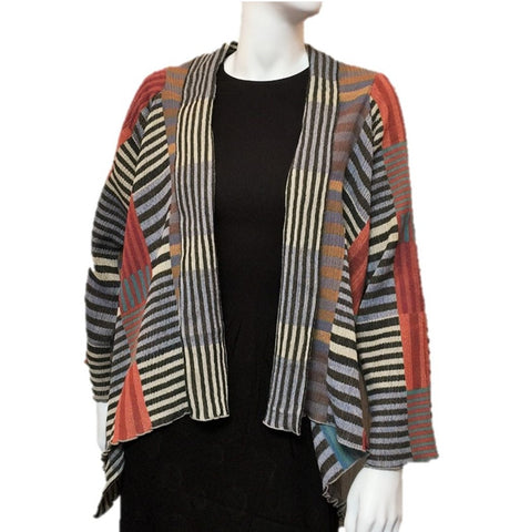 "NUNO Shawl Jacket: ""Color Plates"" (Multicolored)"