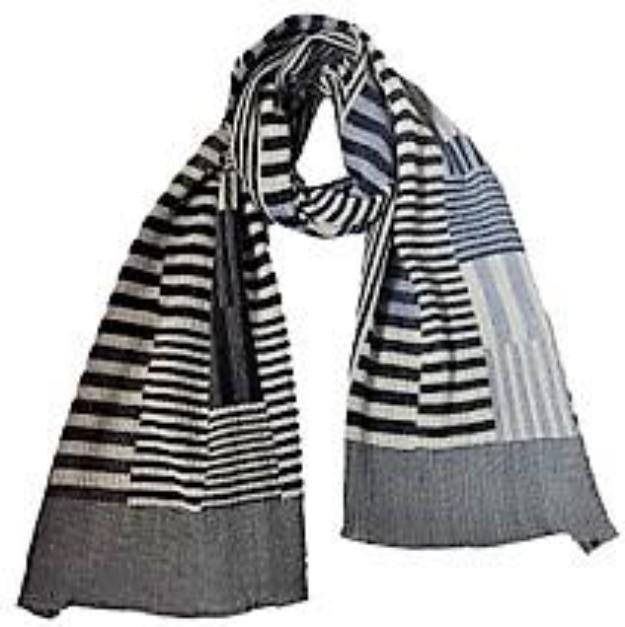 "NUNO Shawl: ""Color Plates"" (Navy/White/Gray)"