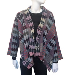 "NUNO Shawl Jacket: ""Daisy Tsunagi"" (Purple Mix)"