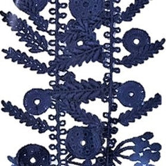"NUNO Necklace: ""Date Palm"" Lace (Royal Blue)"