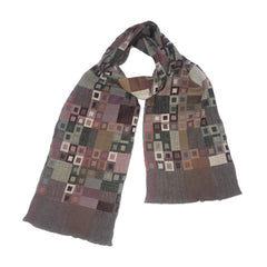 "NUNO Narrow Shawl: ""Glass Mosaic"" (Red Mix)"