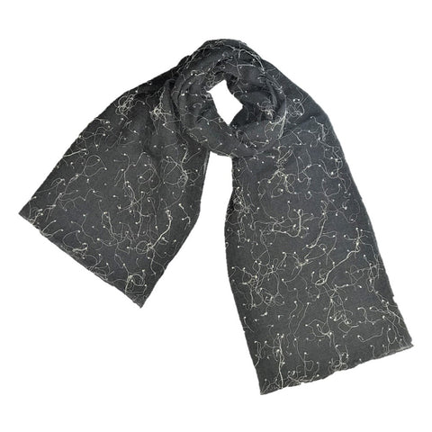 "NUNO Light Shawl: ""Intersecting Threads"" (Gray)"