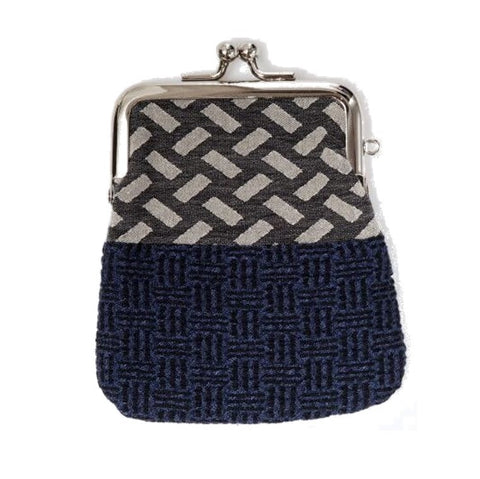 "NUNO Coin Purse: ""OriOri"" (Blue/Gray/Black)"