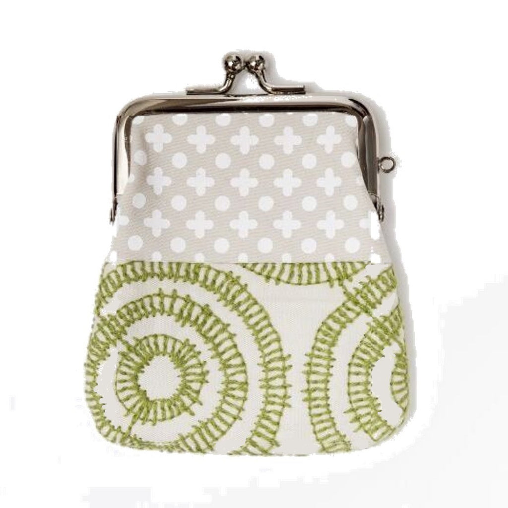"NUNO Coin Purse: ""OriOri"" (Beige/Green/White)"